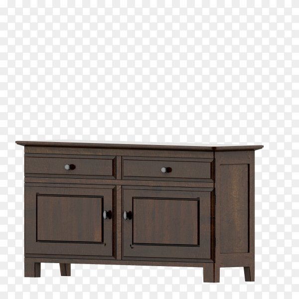 Isometric cabinet 3d render on transparent background PNG