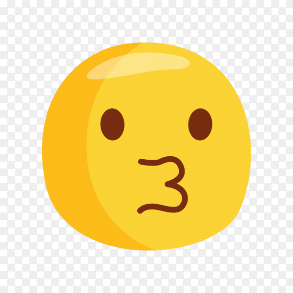 Kissing Face Emoji Clipart PNG