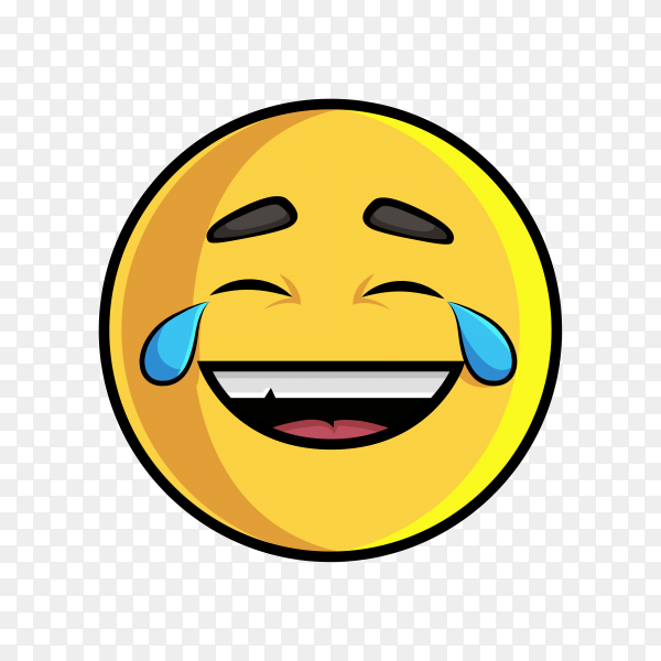Laughing Emoji, LOL sticker and icon Premium vector PNG