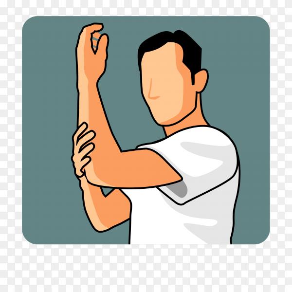 Man muslim perform ablution (wudhu) washing hand before prayer Premium vector PNG