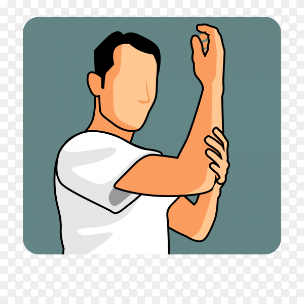 Man muslim perform ablution (wudhu) washing hand before prayer on transparent background PNG