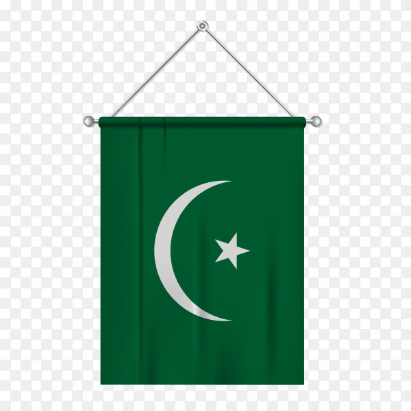 Mauritania flag isolated on transparent background PNG