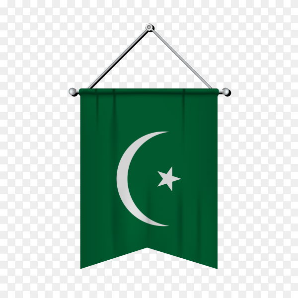 Mauritania flag isolated premium vector PNG