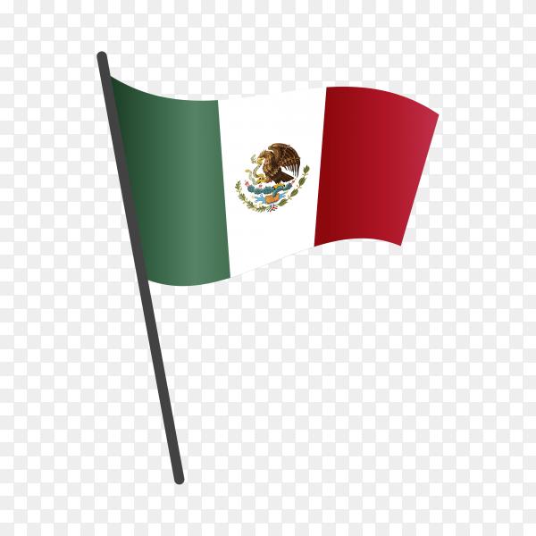 Mexico flag illustration on transparent background PNG