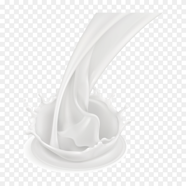 Milk splash illustration on transparent background PNG