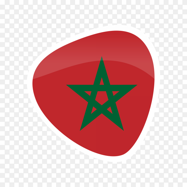 Morocco flag icon on transparent background PNG