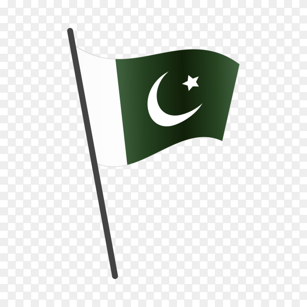 Pakistan flag isolated on transparent background PNG