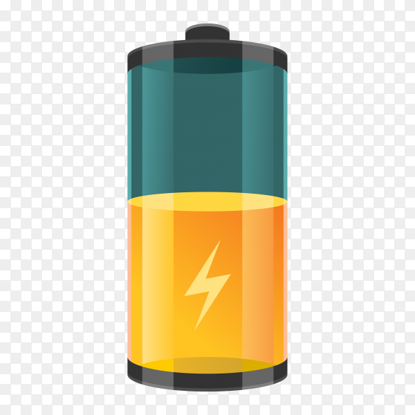 Phone battery charge on transparent background PNG