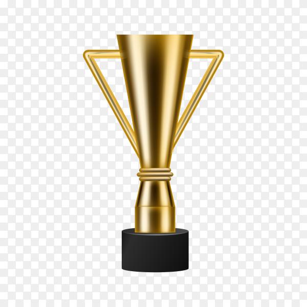 Realistic Golden Trophy on transparent background PNG