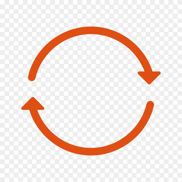 Red Circle Arrow Icon on transparent background PNG
