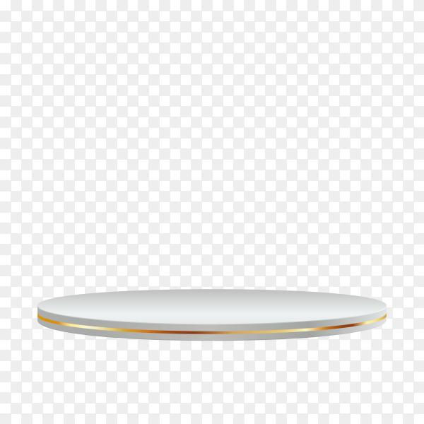 Round podium or pedestal on transparent background PNG