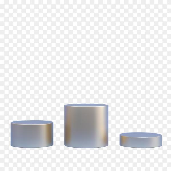 Round shapes podium isolated on transparent background PNG