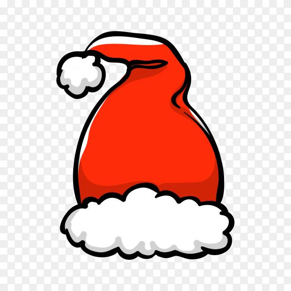 Santa's hat in flat design Premium vector PNG