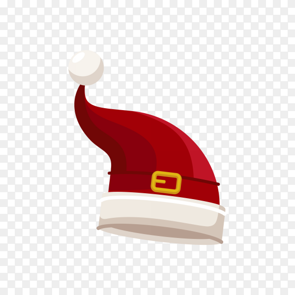 Santa Claus cartoon red hat premium vector PNG