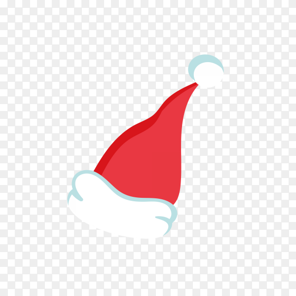 Santa Claus hat in red Color Clipart PNG
