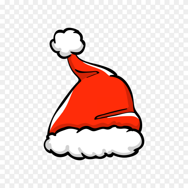 Santa Claus cartoon hat isolated Clipart PNG
