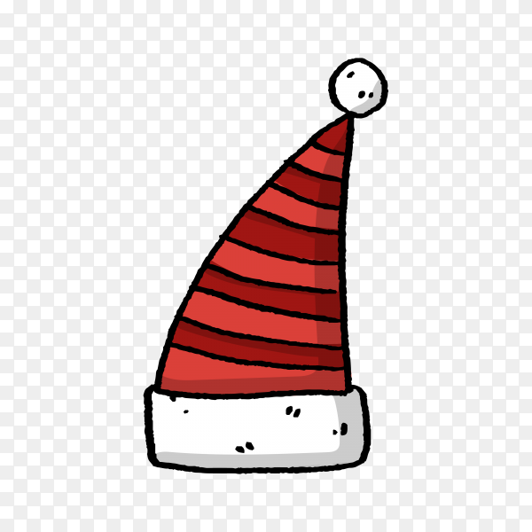Santa Claus hat in flat design premium vector PNG