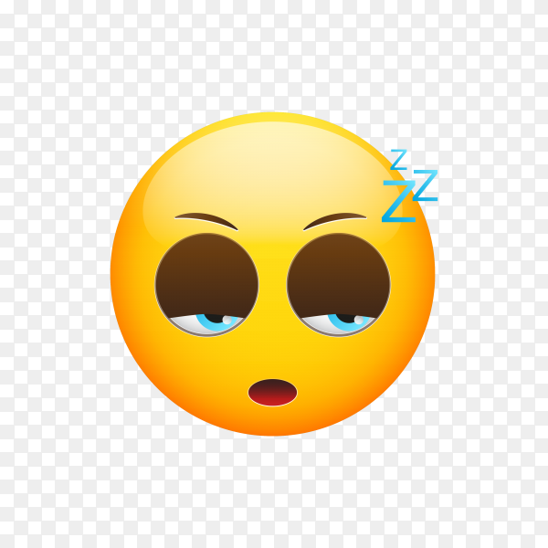 Sleeping Face Emoji vector PNG