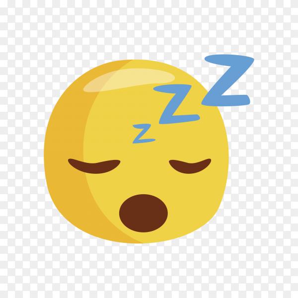 Sleepy Emoji face on transparent background PNG