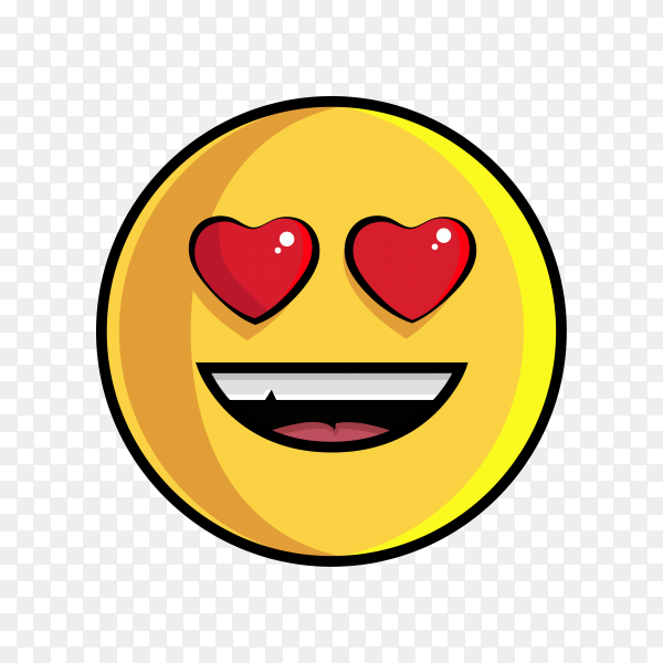 Smile and Lovely Emoji face isolated on transparent background PNG