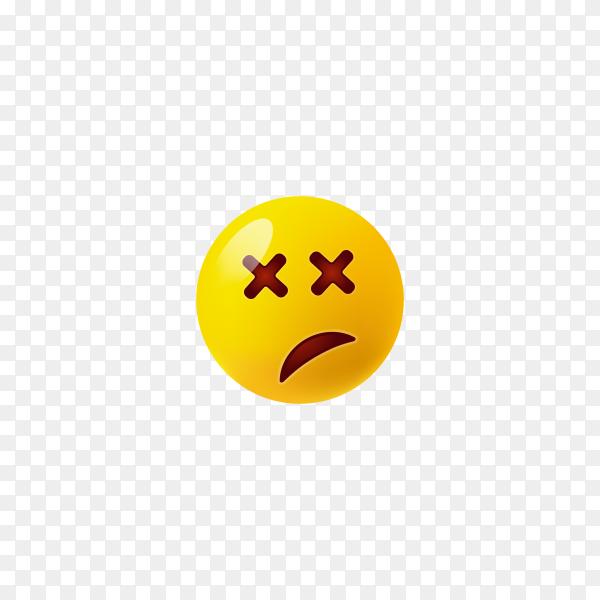 Smirking Face Emoji on transparent background PNG