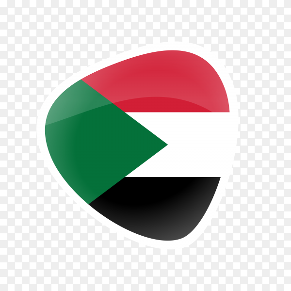 Sudan flag icon on transparent background PNG
