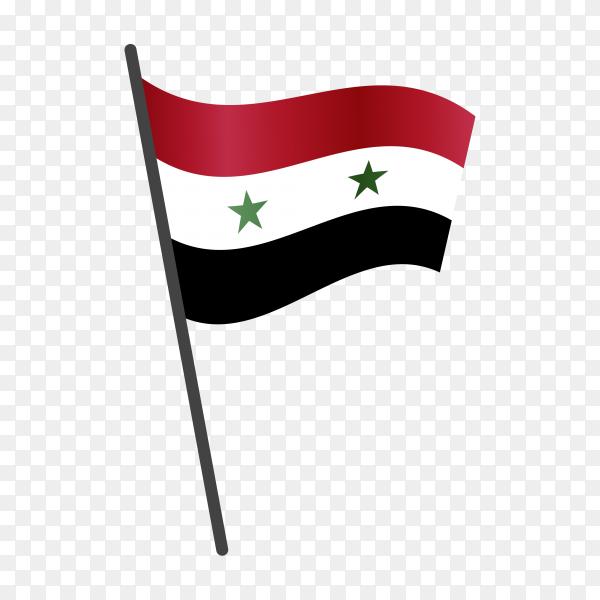 Syria flag illustration on transparent background PNG