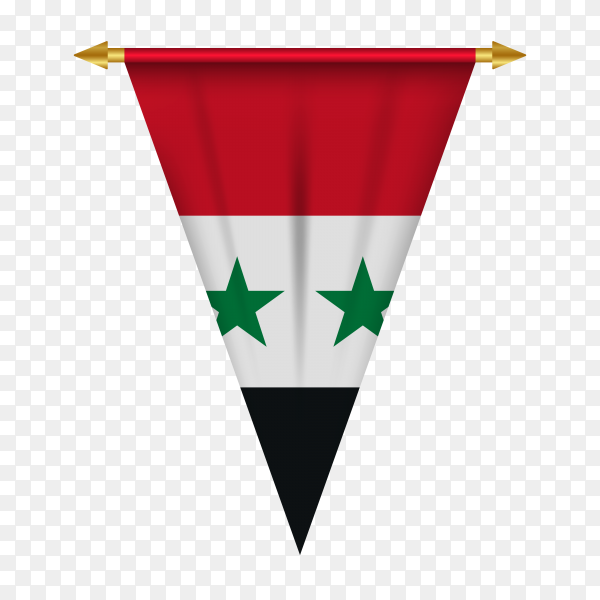 Syria pennant isolated premium vector PNG