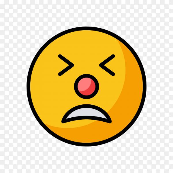 Tired Face Emoji on transparent background PNG