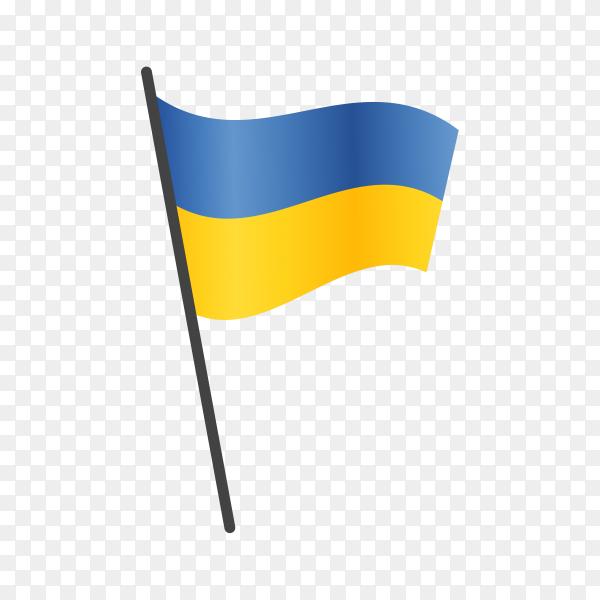 Ukraine flag isolated on transparent background PNG