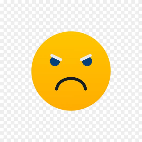 Unamused Face Emoji on transparent background PNG