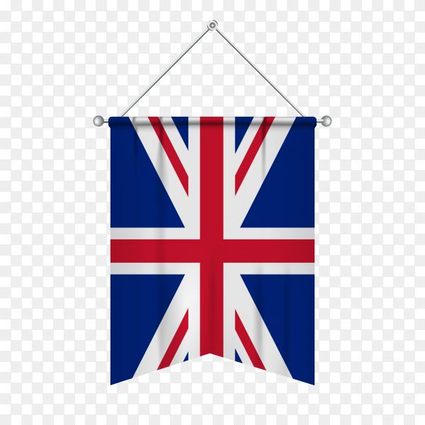 United kingdom flag isolated on transparent background PNG