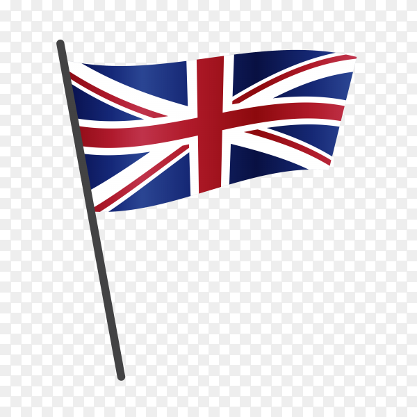 United kingdom flag on transparent background PNG