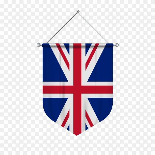 United kingdom flag on transparent background PNG