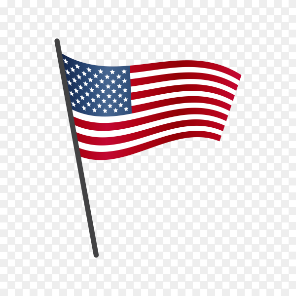 United states flag isolated on transparent background PNG