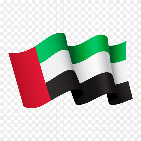 Waving Kuwait flag icon isolated on transparent background PNG