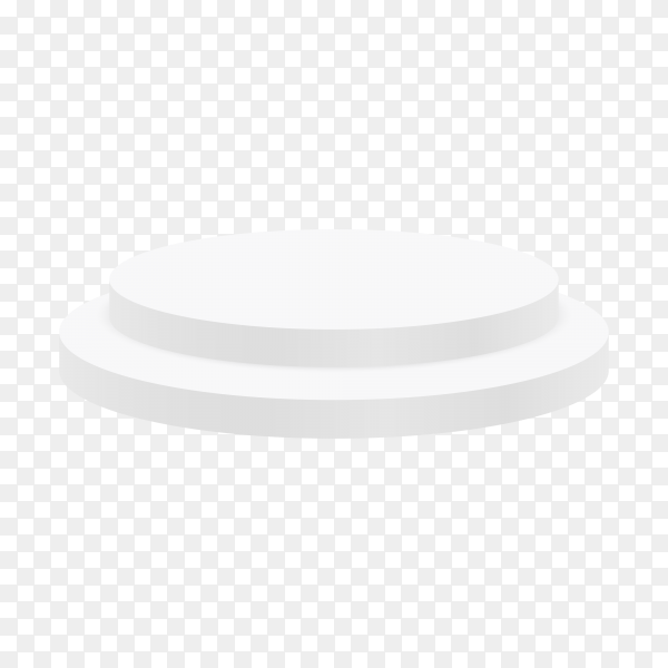 White podium for showing product on transparent background PNG