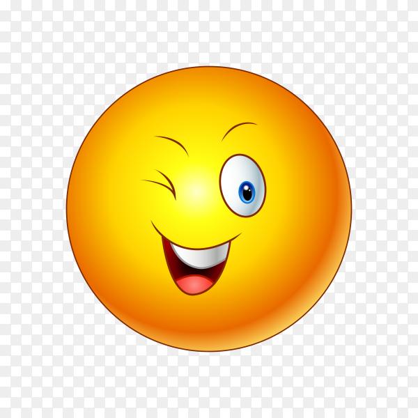Winking Face Emoji premium vector PNG