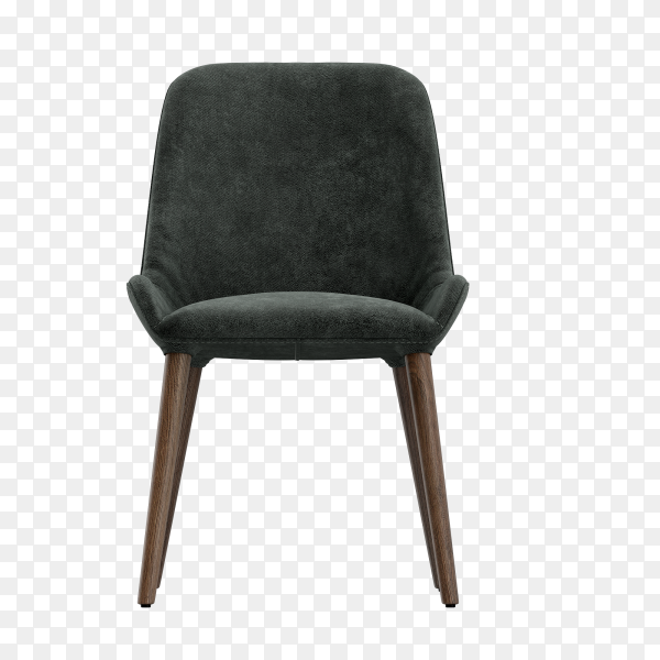 Wooden chair chair upholstered in a beautiful cloth isolated on transparent PNG