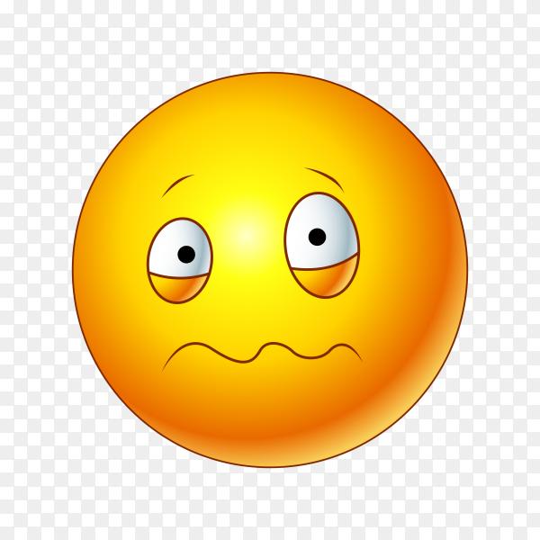 Woozy Face Emoji on transparent background PNG