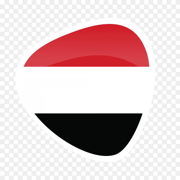 Yemen flag icon on transparent background PNG