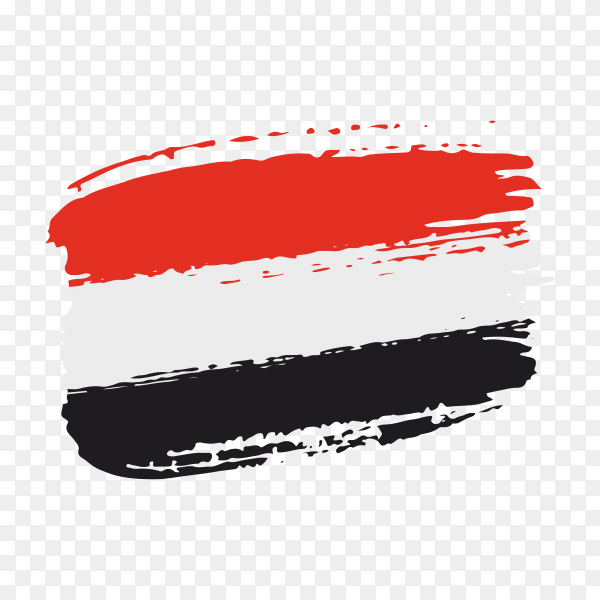 brush stroke Egypt flag on transparent background PNG
