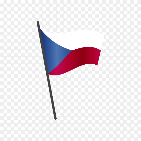 Czech republic flag isolated on transparent background PNG