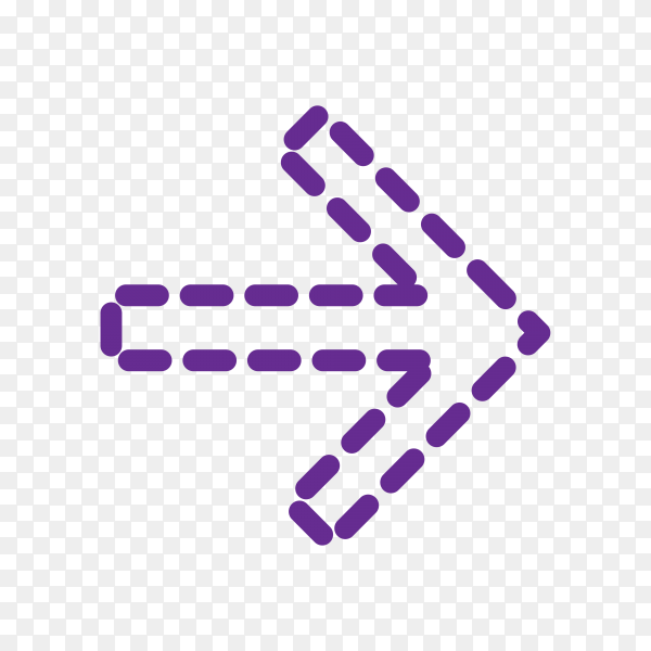 Arrow Icon for Web Design on transparent PNG