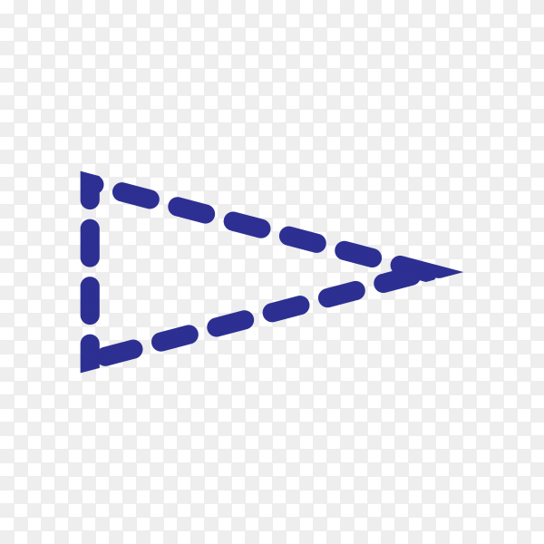 Arrow Icon for Web Design on transparent background PNG