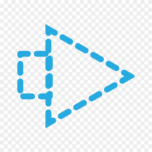 Arrow icon illustration on transparent background PNG
