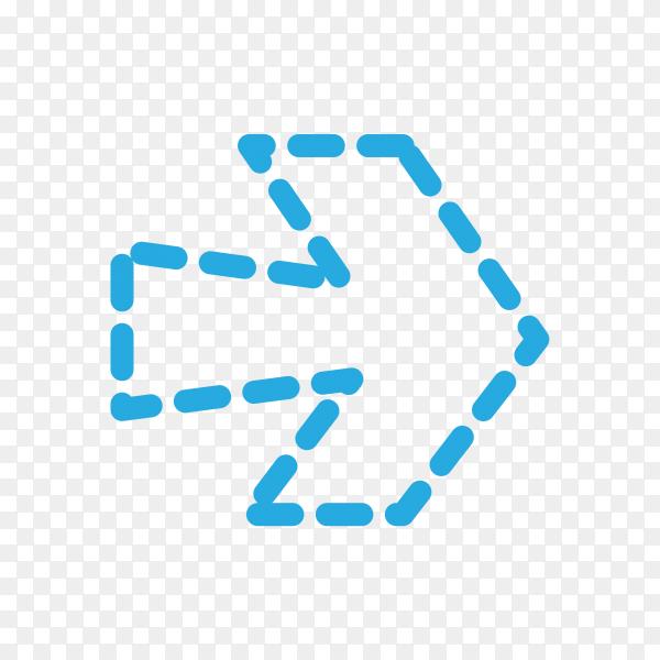 Arrow icon illustration premium vector PNG