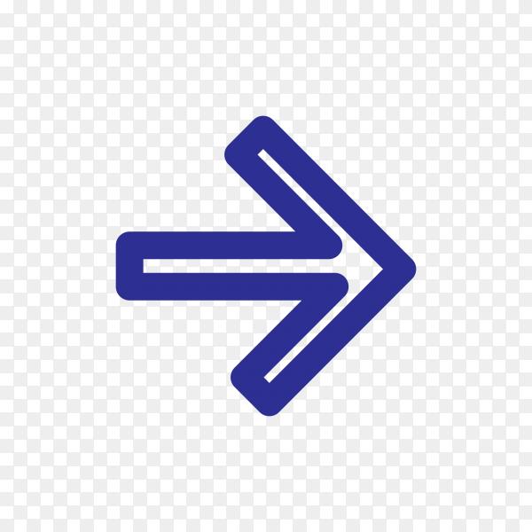 Arrow symbol design on transparent PNG