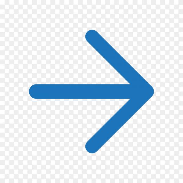 Arrow symbol design on transparent background PNG