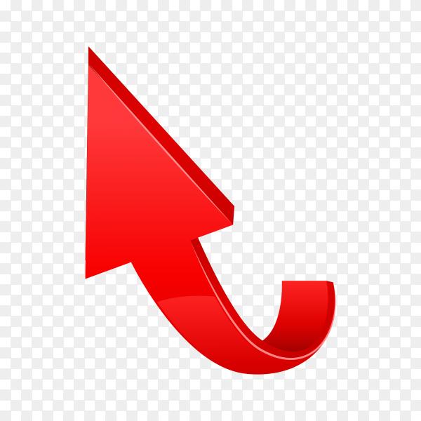 Arrow web curve direction illustration on transparent background PNG